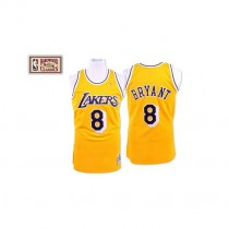 Kobe Bryant Los Angeles Lakers #8 Authentic Throwback Nba Mitchell And Ness Jersey Gold