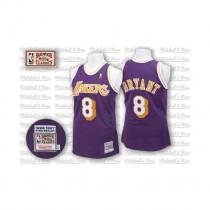 Kobe Bryant Los Angeles Lakers #8 Swingman Throwback Nba Mitchell And Ness Jersey Purple