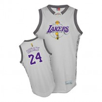 Kobe Bryant Los Angeles Lakers Authentic 2010 Finals Commemorative Nba Adidas Jersey Grey