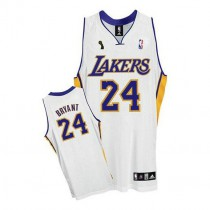 Kobe Bryant Los Angeles Lakers Authentic Alternate Champions Patch Nba Adidas Jersey White