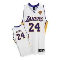 Kobe Bryant Los Angeles Lakers Authentic Alternate Final Patch Nba Adidas Jersey White