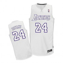 Kobe Bryant Los Angeles Lakers Authentic Big Color Fashion Nba Adidas Jersey White
