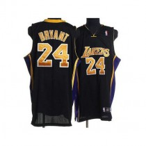 Kobe Bryant Los Angeles Lakers Authentic Black No Champions Patch Nba Adidas Jersey Gold