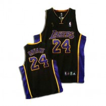 Kobe Bryant Los Angeles Lakers Authentic Black No Champions Patch Nba Adidas Jersey Purple
