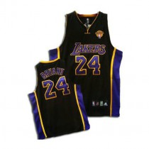 Kobe Bryant Los Angeles Lakers Authentic Black No Final Patch Nba Adidas Jersey Purple