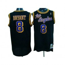 Kobe Bryant Los Angeles Lakers Authentic Black Throwback Nba Mitchell And Ness Jersey Purple