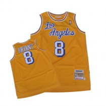 Kobe Bryant Los Angeles Lakers Authentic Crabbed Letter Throwback Nba Mitchell And Ness Jersey Gold