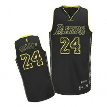 Kobe Bryant Los Angeles Lakers Authentic Electricity Fashion Nba Adidas Jersey Black