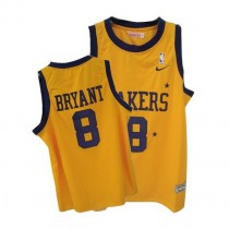 Kobe Bryant Los Angeles Lakers Authentic Gold No Throwback Nba Mitchell And Ness Jersey Purple