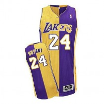 Kobe Bryant Los Angeles Lakers Authentic Gold Split Fashion Nba Adidas Jersey Purple