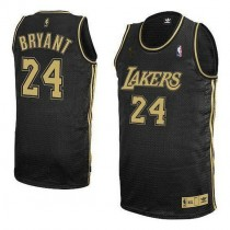 Kobe Bryant Los Angeles Lakers Authentic Grey No Final Patch Nba Adidas Jersey Black