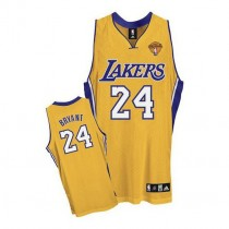 Kobe Bryant Los Angeles Lakers Authentic Home Final Patch Nba Adidas Jersey Gold