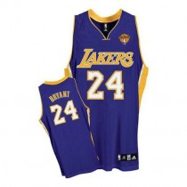 Kobe Bryant Los Angeles Lakers Authentic Road Final Patch Nba Adidas Jersey Purple