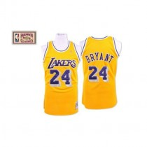 Kobe Bryant Los Angeles Lakers Authentic Throwback Nba Mitchell And Ness Jersey Gold