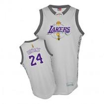 Kobe Bryant Los Angeles Lakers Swingman 2010 Finals Commemorative Nba Adidas Jersey Grey