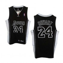 Kobe Bryant Los Angeles Lakers Swingman Champions Patch Nba Adidas Jersey Black Shadow