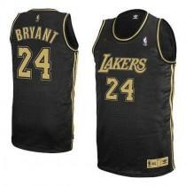 Kobe Bryant Los Angeles Lakers Swingman Grey No Champions Patch Nba Adidas Jersey Black