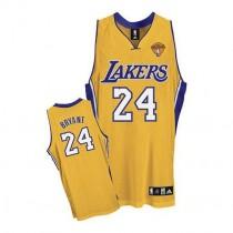 Kobe Bryant Los Angeles Lakers Swingman Home Final Patch Nba Adidas Jersey Gold