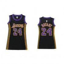 Kobe Bryant Los Angeles Lakers Women S Authentic Black No Dress Nba Adidas Jersey Purple