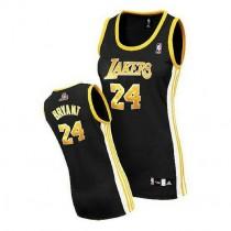 Kobe Bryant Los Angeles Lakers Women S Authentic Black No Nba Adidas Jersey Gold