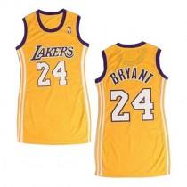 Kobe Bryant Los Angeles Lakers Women S Swingman Dress Nba Adidas Jersey Gold