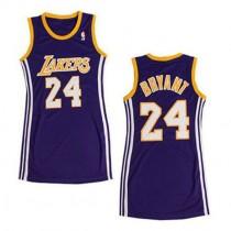 Kobe Bryant Los Angeles Lakers Women S Swingman Dress Nba Adidas Jersey Purple