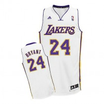 Kobe Bryant Los Angeles Lakers Youth Swingman Alternate Nba Adidas Jersey White