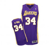 Mens Shaquille Oneal Los Angeles Lakers Authentic Road Nba Adidas Jersey Purple