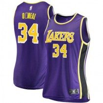 Womens Shaquille Oneal Los Angeles Lakers Fanatics Branded Swingman Purple 2018 #19 Statement Edition Jersey