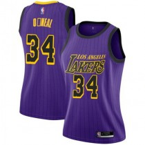 Womens Shaquille Oneal Los Angeles Lakers Nike Swingman Purple 2018 #19 City Edition Jersey