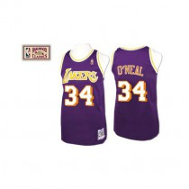 Youth Shaquille Oneal Los Angeles Lakers Authentic Throwback Nba Mitchell And Ness Jersey Purple