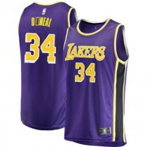Youth Shaquille Oneal Los Angeles Lakers Fanatics Branded Swingman Purple 2018 #19 Statement Edition Jersey